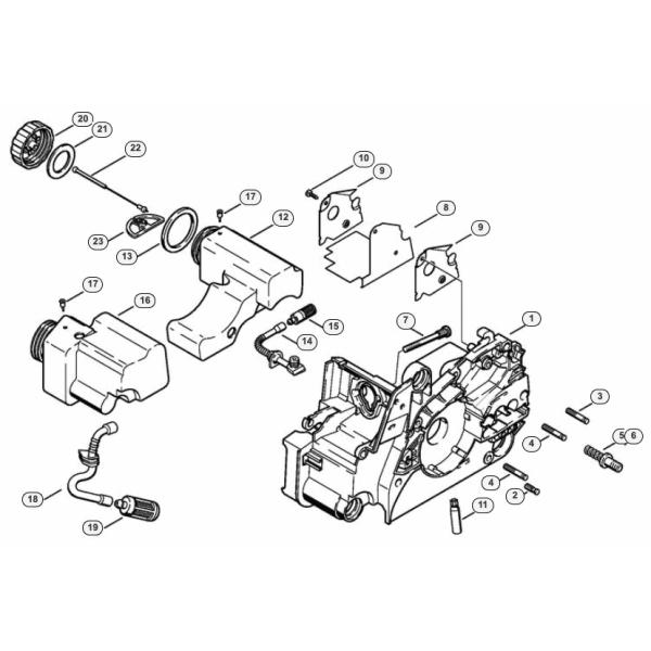 Stihl MS170 moottorinrunko